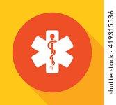 caduceus  icon | Shutterstock .eps vector #419315536