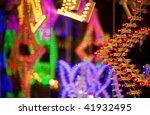 Abstract holiday illumination - stock photo