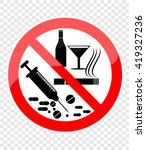 no smoking  alcohol and drugs | Shutterstock .eps vector #419327236