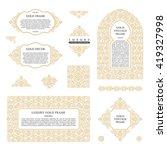 arabic vector set of frames and ...   Shutterstock .eps vector #419327998