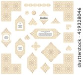 arabic vector set of frames and ... | Shutterstock .eps vector #419328046