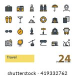 set of outline travel and... | Shutterstock .eps vector #419332762