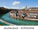 river and urbanization in bern  ... | Shutterstock . vector #419342446