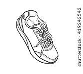 contour shoes. cartoon sneaker... | Shutterstock . vector #419342542