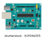 diy electronic board with a...   Shutterstock .eps vector #419346355