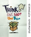 hand drawn doodles think out... | Shutterstock .eps vector #419346616