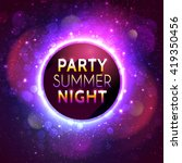 banner for summer night party... | Shutterstock .eps vector #419350456