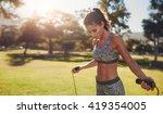 horizontal shot of muscular... | Shutterstock . vector #419354005