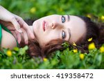 Attractive Woman Lying In The...