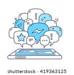 vector illustration of blue...   Shutterstock .eps vector #419363125