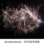 electric sparks  close up | Shutterstock . vector #419369488