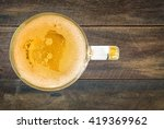 heart of beer bubbles glass of... | Shutterstock . vector #419369962