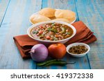 indian dish spicy chick peas... | Shutterstock . vector #419372338