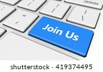 join us sign and letters on a... | Shutterstock . vector #419374495