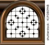 small dormer window wih sash  ... | Shutterstock . vector #419380948
