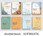 set of flyer  brochure design... | Shutterstock .eps vector #419381476
