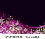 Abstract Dark Violet Christmas...