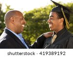 proud african american father... | Shutterstock . vector #419389192