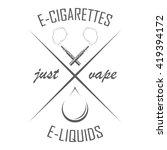 e cigarettes store emblem in...