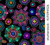 colorful medallion print  ... | Shutterstock .eps vector #419394526