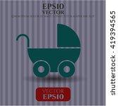 baby cart icon vector symbol...   Shutterstock .eps vector #419394565