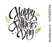 happy father's day greeting card | Shutterstock .eps vector #419400526