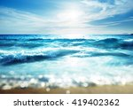 beach in sunset time  tilt... | Shutterstock . vector #419402362