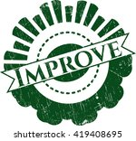 improve rubber grunge seal | Shutterstock .eps vector #419408695