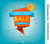 super sale poster  banner. big...   Shutterstock .eps vector #419409406