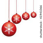 beautiful red glass baubles... | Shutterstock . vector #41941066