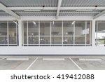 steel mesh wall in prison | Shutterstock . vector #419412088