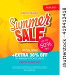 summer sale template banner | Shutterstock .eps vector #419412418
