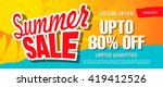 summer sale template banner | Shutterstock .eps vector #419412526