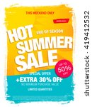 hot summer sale template banner | Shutterstock .eps vector #419412532