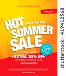 hot summer sale template banner | Shutterstock .eps vector #419412568