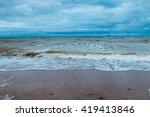 dramatic sky above azov sea and ...   Shutterstock . vector #419413846