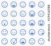 set of emoticons  emoji and...   Shutterstock .eps vector #419416588