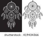 native american indian talisman ... | Shutterstock .eps vector #419434366