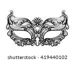 mask silhouette | Shutterstock .eps vector #419440102
