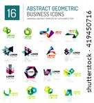 abstract geometric business... | Shutterstock .eps vector #419450716