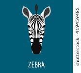 abstract cartoon zebra... | Shutterstock .eps vector #419459482