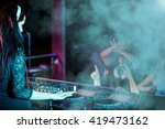 charismatic disc jockey at the... | Shutterstock . vector #419473162