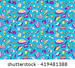 graffiti seamless vector... | Shutterstock .eps vector #419481388