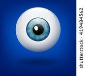 vector azure eye ball. blue...   Shutterstock .eps vector #419484562