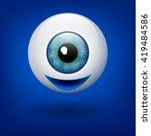 vector azure eye ball. happy...   Shutterstock .eps vector #419484586