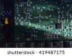 computer motherboard  | Shutterstock . vector #419487175