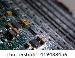 computer main board  ... | Shutterstock . vector #419488456