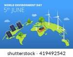 world environment day card ... | Shutterstock .eps vector #419492542