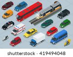 flat 3d isometric high quality... | Shutterstock .eps vector #419494048