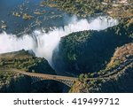 the victoria falls is the... | Shutterstock . vector #419499712
